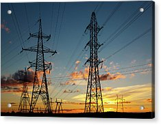 Power Cables Acrylic Print