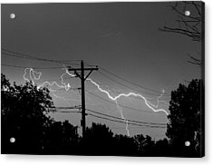 Power Lines Bw Fine Art Photo Print Acrylic Print