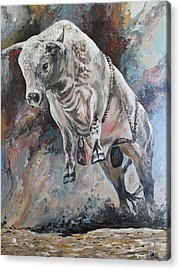 Power Of The Bull Acrylic Print by Leonie Bell