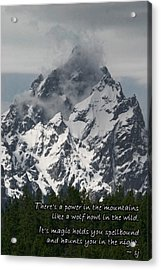 Power Of The Mountains Acrylic Print
