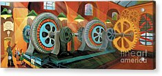 Power Plant Turbines Acrylic Print