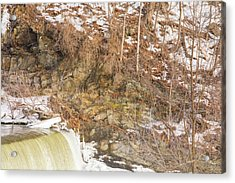 Power Station Falls On Black River Four Acrylic Print