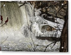 Power Station Falls On Black River  Acrylic Print