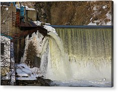 Power Station Falls On Black River One Acrylic Print