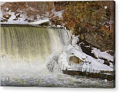Power Station Falls On Black River Three Acrylic Print