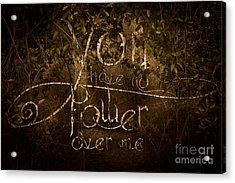 Power Struggle Acrylic Print