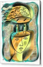 Powerful Thinking Acrylic Print by Leon Zernitsky