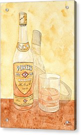 Powers Irish Whiskey Acrylic Print by Ken Powers