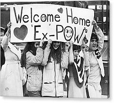 Pows Get Valentine Message Acrylic Print by Russ Reed