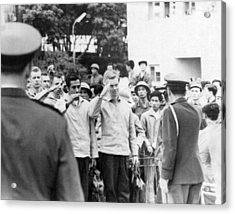 Pows To Leave Hanoi Acrylic Print by Underwood Archives