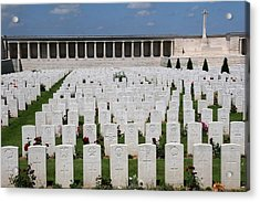 Acrylic Print featuring the photograph Pozieres British Cemetery by Travel Pics