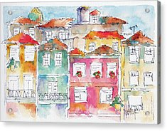 Praca Da Ribeira Porto Acrylic Print