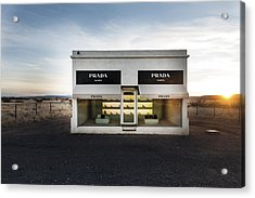 Prada Marfa Is A Permanently Installed Sculpture By Elmgreen And Dragset Near The Town Of Valentine Acrylic Print