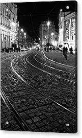 Praga At Night Acrylic Print