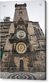Prague Astronomical Clock Acrylic Print by Andre Goncalves