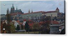 Prague Castle In Prague Czech Republic Acrylic Print by Paul Pobiak