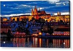 Prague Castle In The Evening Acrylic Print