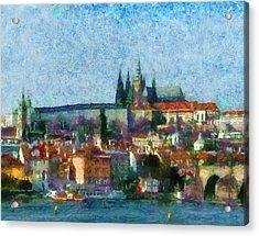 Prague Castle Acrylic Print by Peter Kupcik