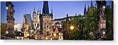 Prague Charles Bridge Czech Republic 93721 3840x1200 Acrylic Print