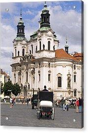 Prague Acrylic Print by Charles  Ridgway
