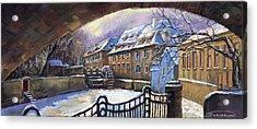 Prague Chertovka Winter 01 Acrylic Print by Yuriy  Shevchuk