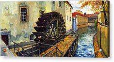 Prague Chertovka Acrylic Print by Yuriy  Shevchuk