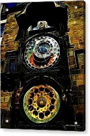 Prague Clock Acrylic Print by Joan  Minchak