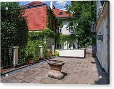Acrylic Print featuring the photograph Prague Courtyards by Jenny Rainbow