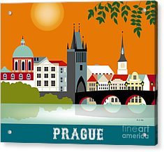 Prague Czech Republic Horizontal Scene Acrylic Print