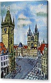 Prague Czech Republic Acrylic Print by Irina Sztukowski