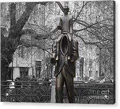 Prague. Franz Kafka Statue Acrylic Print