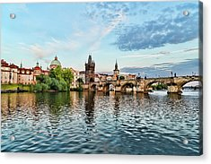 Prague From The River Acrylic Print