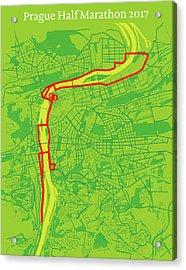 Prague Half Marathon #2 Acrylic Print by Big City Artwork