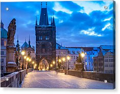 Prague In Blue Acrylic Print