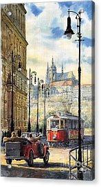 Prague Kaprova Street Acrylic Print