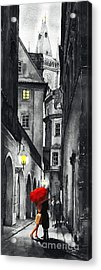 Prague Love Story Acrylic Print