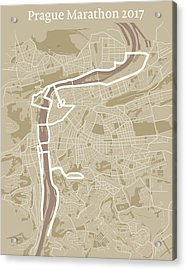 Prague Marathon #1 Acrylic Print by Big City Artwork