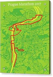 Prague Marathon #2 Acrylic Print by Big City Artwork