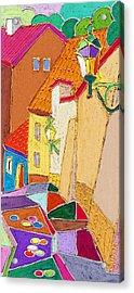 Prague Old Street Ceminska Novy Svet Acrylic Print by Yuriy  Shevchuk
