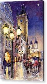 Prague Old Town Square 3 Acrylic Print by Yuriy  Shevchuk