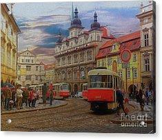 Prague, Old Town, Street Scene Acrylic Print