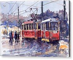 Prague Old Tram 01 Acrylic Print