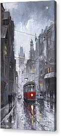 Prague Old Tram 03 Acrylic Print