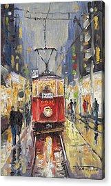 Prague Old Tram 08 Acrylic Print by Yuriy  Shevchuk