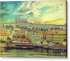 Prague Riverview Acrylic Print