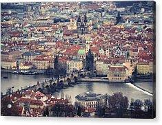 Prague Skyline Acrylic Print