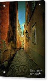 Prague Street - Historical Centre Of The Prague Acrylic Print by Michal Boubin