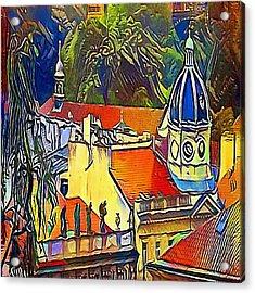 Prague Theater - My Www Vikinek-art.com Acrylic Print