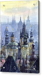 Prague Towers Acrylic Print by Yuriy  Shevchuk