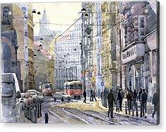 Prague Vodickova Str Acrylic Print